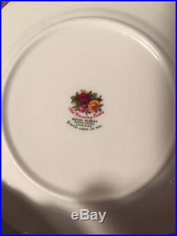 Vtg Royal Albert Old Country Roses Bone China Set For 6 Fine Dining Party